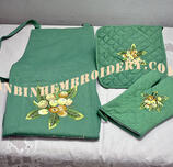 Apron & oven Glove, pot holder